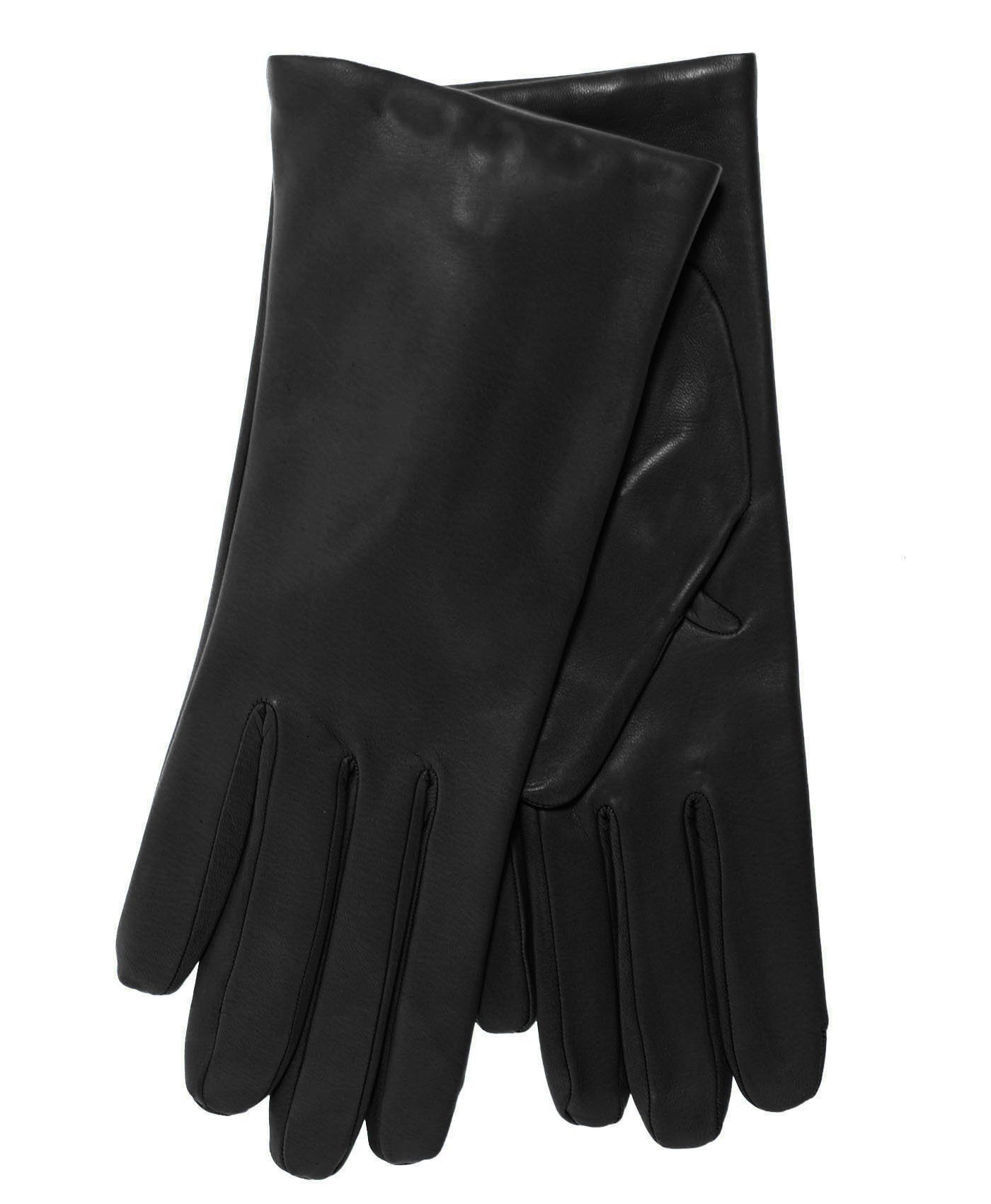 Fratelli Orsini Everyday Women's Italian Cashmere Lined Leather Gloves Size 7 1/2 Color Black