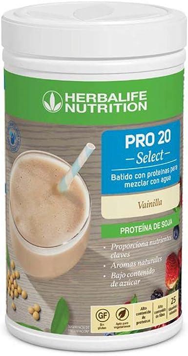 herbalife batido con proteinas pro 20 select sabor vainilla para...