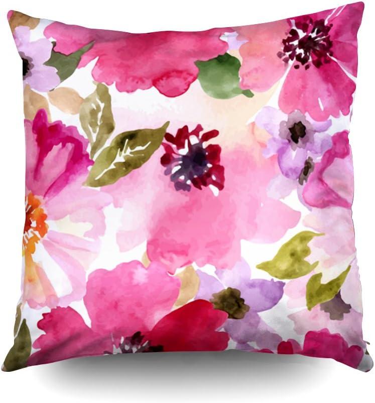 Throw Pillow Cover Fuchsia Gold Color