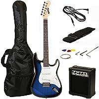 RockJam RJEG02-SK-BB Electric Guitar Pack, Blue Burst