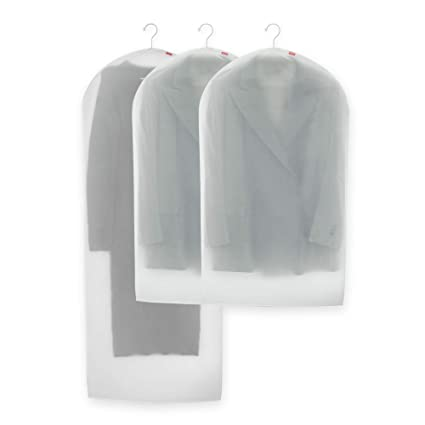 Rayen - Funda de ropa para armario. Pack de 3 bolsas translúcidas para guardar ropa. Protectores de ropa antipolvo. 60 x 150 cm y 60 x 100 cm. ...