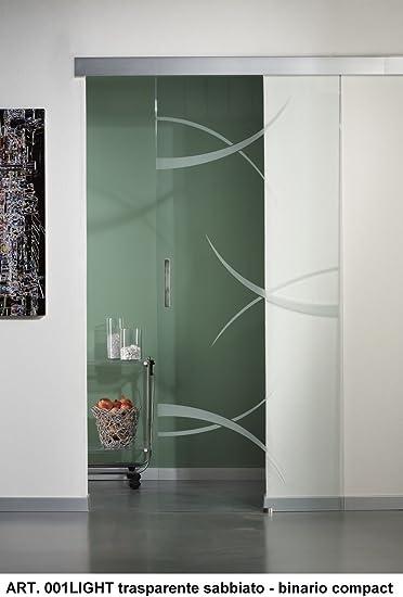 Puertas Cristal Translúcido Dibujo evohard con riel tamaño 91 x 215: Amazon.es: Bricolaje y herramientas