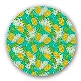 Uneekee Pineapple Tropicana Lazy Susan: Large, Dark Wooden Turntable Kitchen Storage
