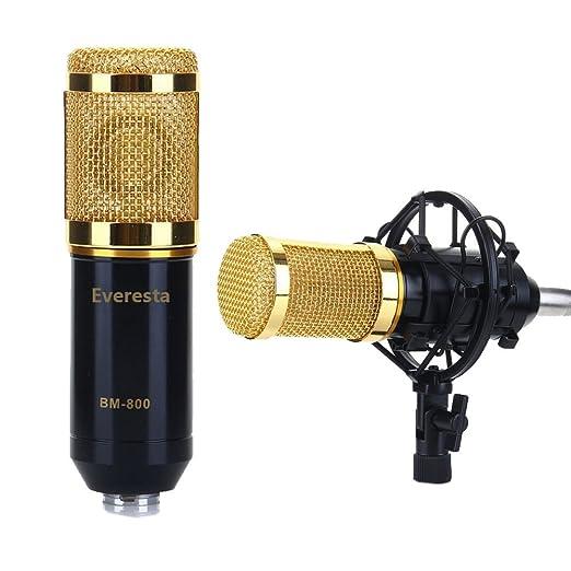 4 opinioni per Everesta BM-800 Microfono di registrazione audio a condensatore + Mic shock