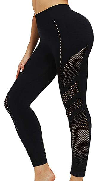 Amazon.com: Meakeo - Leggings de cintura alta sin costuras ...