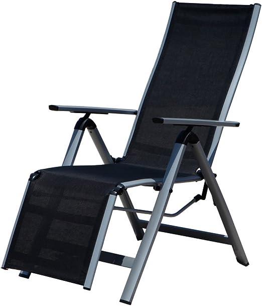 Sillón Relax, silla tumbona silla plegable para jardín Terraza, de ...