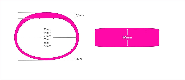 3 St/ück RFID Armband SILA09 MIFARE/® Classic 1K Schwarz, 66