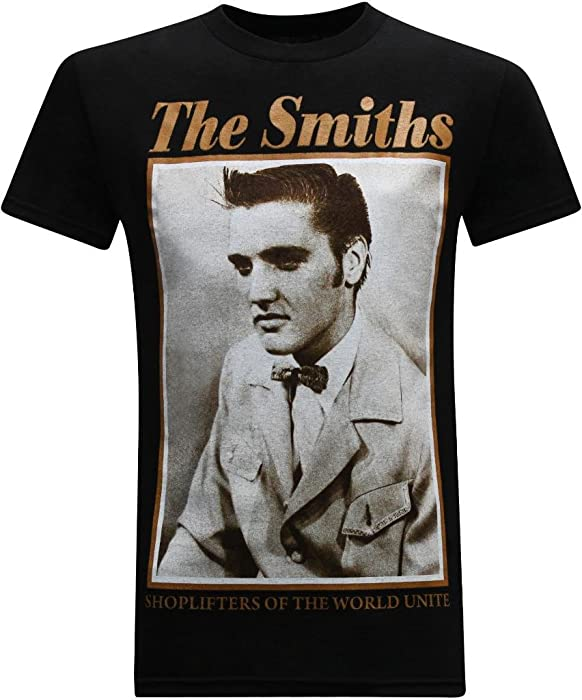 bccf26191e7 The Smiths Shoplifters of the World Unite Classic Rock Band Men s T-Shirt -  S