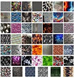 Hydrographics Film - Water Transfer Printing Film - Scraps & Samples - Assorted Sample 6 Pack