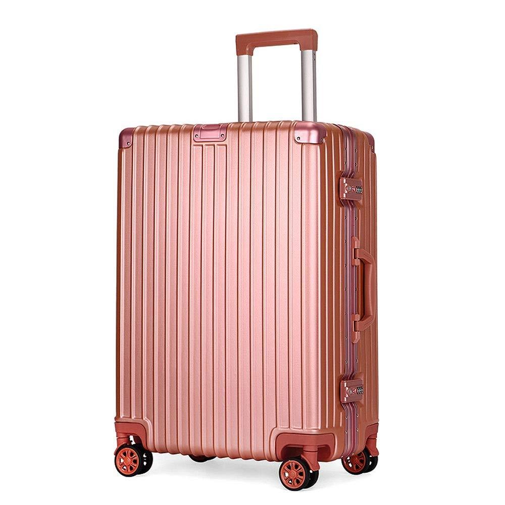 旅行携帯用アルミニウムフレームの普遍的な車輪のトロリー箱/搭乗パスワード箱/スーツケース (色 : ローズゴールド, サイズ さいず : 70x45x28cm)   B07R5QR1JP