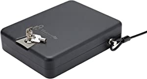 Hornady Steel Keyed TriPoint Lock Box, Portable Gun Lock Box, Travel and In-Home Security Box for Valuables, Approved by TSA for Air Travel- XL, 10 x 8 x 3 inches- 98152