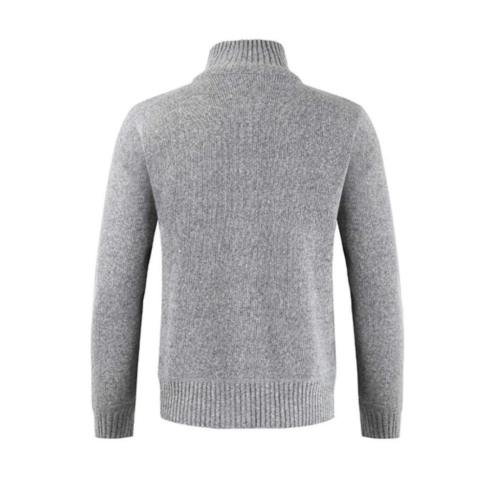 Gusspower Chaqueta para Hombres Abrigo Grueso Sudadera Suéter de Cuello Color sólido Más Terciopelo Ropa Jerséis Invierno: Amazon.es: Ropa y accesorios