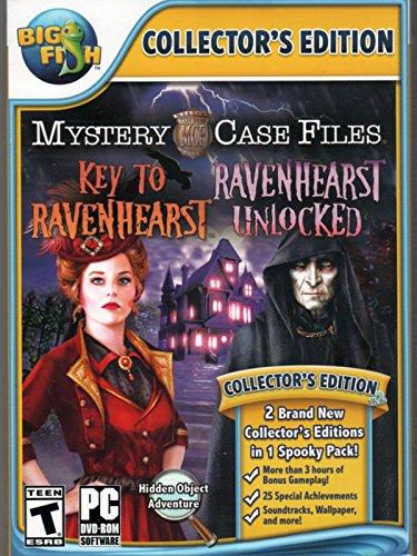 Mystery Case Files KEY TO RAVENHEARST + RAVENHEARST UNLOCKED Hidden Object PC Game (Case Pc Files Mystery Games)