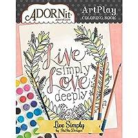Adornit Artplay Coloring Book-Live Simply