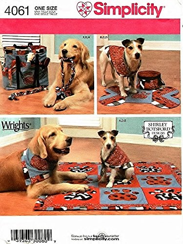Simplicity Sewing Pattern 4061 dog Blanket