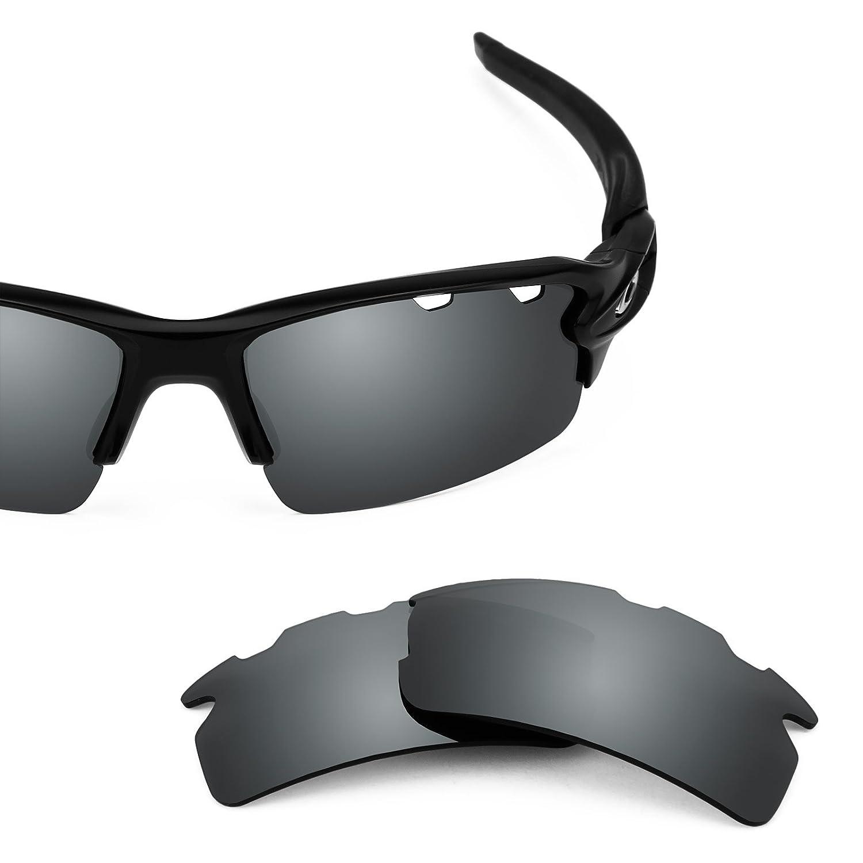 a520717add4 Amazon.com  Revant Polarized Replacement Lenses for Oakley Flak 2.0 Vented  Elite Black Chrome MirrorShield  Sports   Outdoors