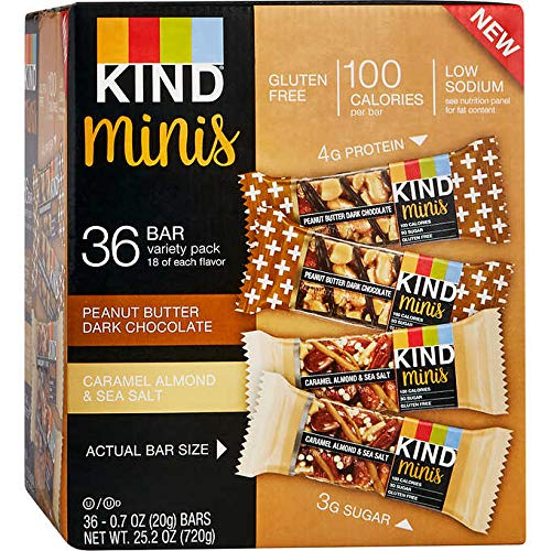 KIND Bar Caramel almond and sea salt & Peanut Butter Dark Chocolate, (Minis Variety Pack, 36 Bars) by KIND (Image #1)