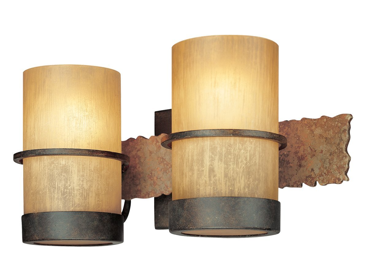 Amazon.com: Troy Lighting Bamboo 3 Light Vanity   Bamboo Bronze With  Natural Slate Finish And Bamboo Glass: Home Improvement