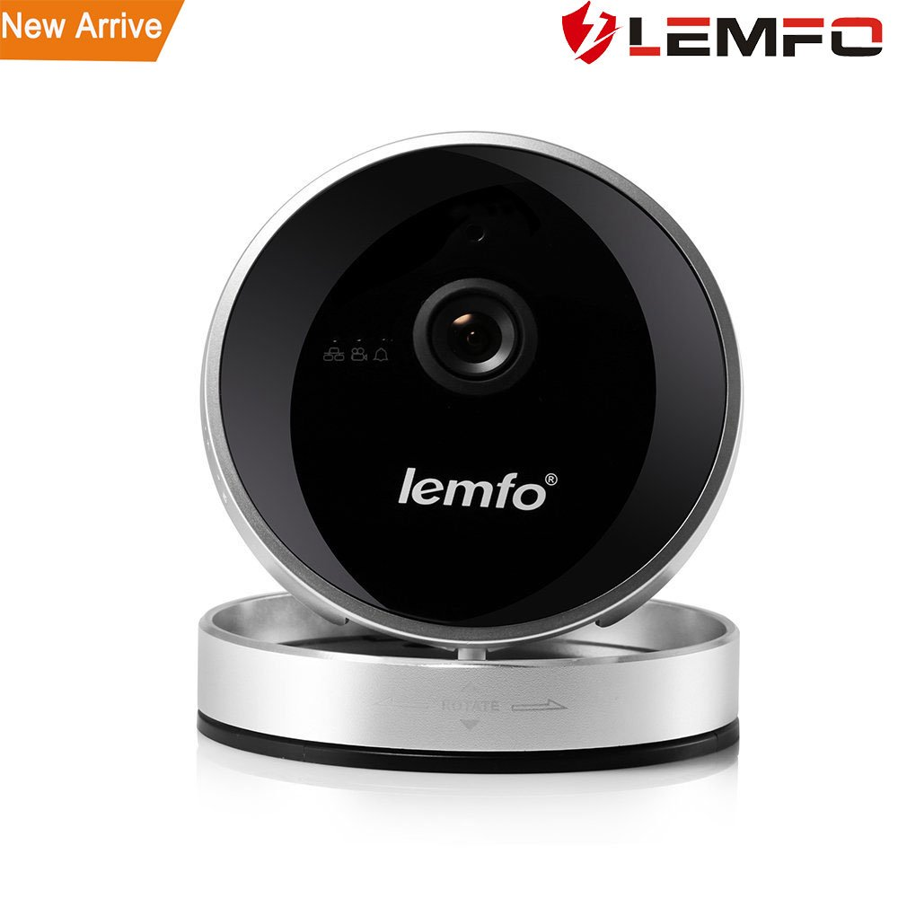 WiFi IP Camera, LEMFO 720P HD Baby Monitor Home Wireless Security Surveillance Network Camera Night Vision Motion Alarm Pan Tilt Zoom (Flip Silver 720P)