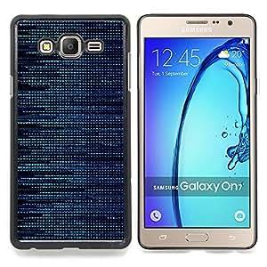 """Qstar Arte & diseño plástico duro Fundas Cover Cubre Hard Case Cover para Samsung Galaxy On7 O7 (Patrón Hacker Azul"""")"""