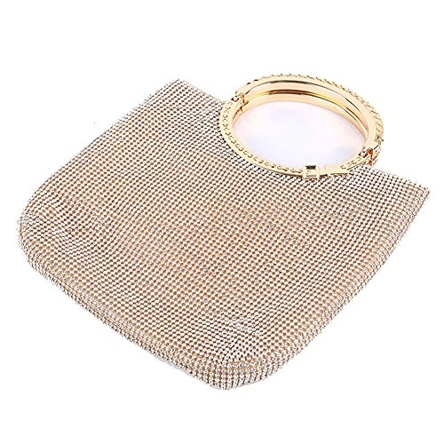 Rhinestone Womens Bags Night capacity Gold Color Crystal Out Wedding Lovely Handbag Gold Evening Party Purse Rabbit High Dazzling BYwq5S