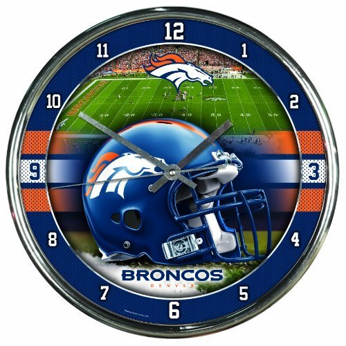 Wincraft Denver Broncos NFL Chrome Round Clock