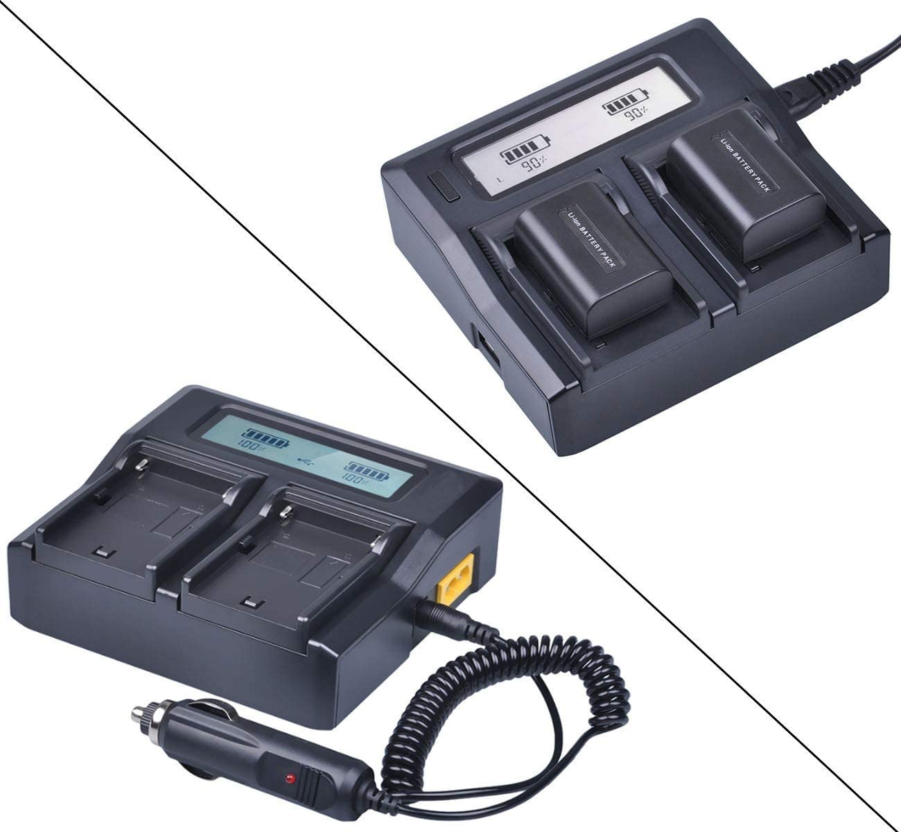 GZ-MG155U GZ-MG255U LCD Quick Battery Charger for JVC Everio GZ-MG150U GZ-MG275U GZ-MG335U GZ-MG465U GZ-MG175U GZ-MG555U GZ-MG435U GZ-MG365U GZ-MG575U Camcorder