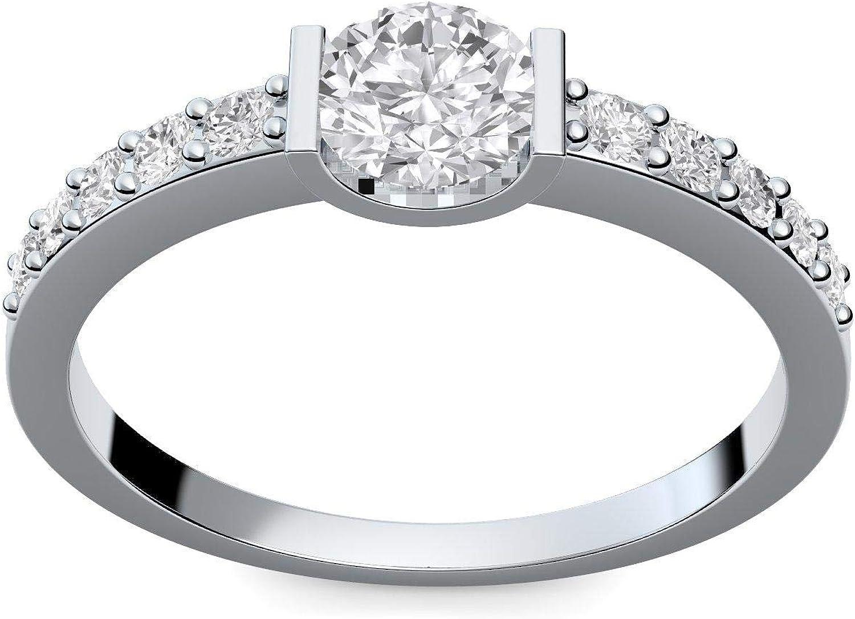 Compromiso anillos con circonita + estuche! Anillo de compromiso ...