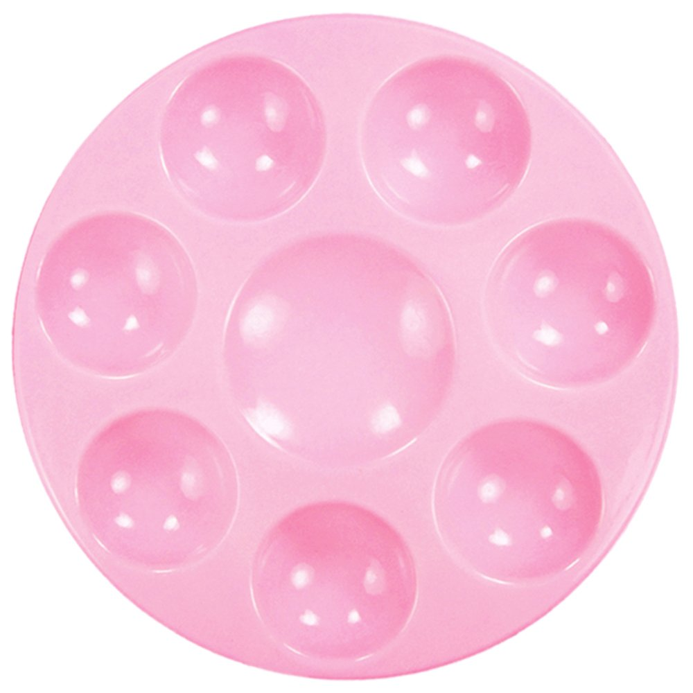 Kit's Inventive - Non Stick Palette'' PINK'' Unbreakable Synthetic Rubber [ 8 Well ] Easiest To Clean, Safest & Long Lasting