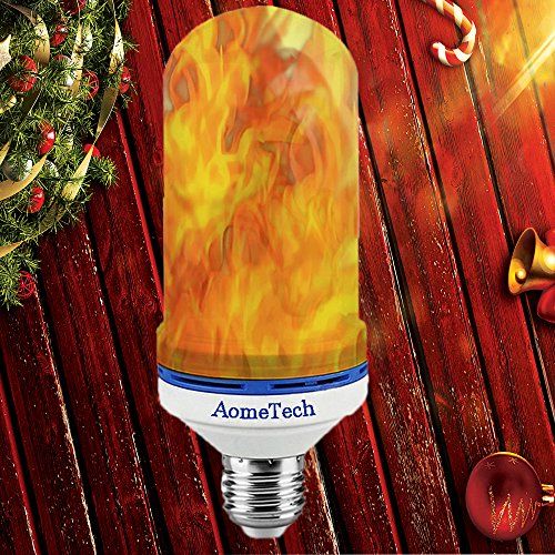 AomeTech E26 LED Flame Effect Light Bulb LED Beads Simulated Decorative Lamp Atmosphere Lighting Vintage Flame Light Bulb for Home decoration, Bedroom, Living Room, Bar, Hotel, Outdoor Gardens - Installing Outdoor Lamp Post