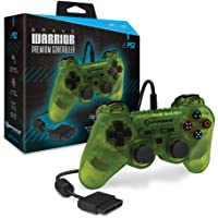 """Hyperkin """"Brave Warrior"""" Premium Controller for PS2 (Clear Yellow)"""