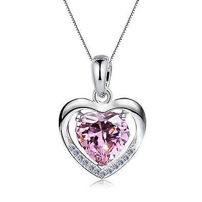 """62cd35c75d98 Damen Halskette 925 Sterling Silber mit Herz Anhänger mit SWAROVSKI  Herzkette, Ein Symbol der """""""