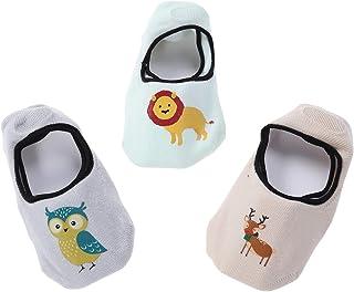BESTOYARD Cartoon Baby Cute Chaussettes Non-slip Silicone Invisible Floor Boat Chaussettes 3 Paires pour Enfants Bébé - S 6H4078B17A8