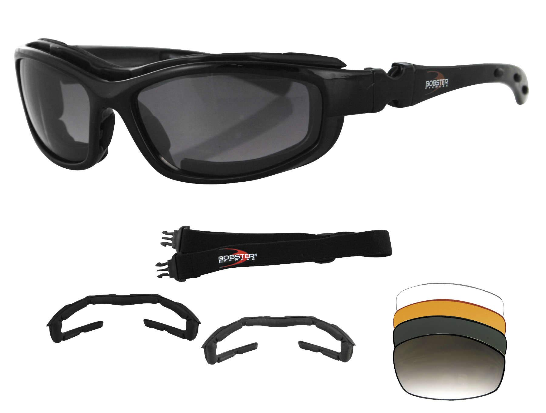 Bobster Eyewear Road Hog 2 Blk Convert/Intch Brh2001 New