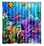 Fish Shower Curtain Custom Shower Curtain 66