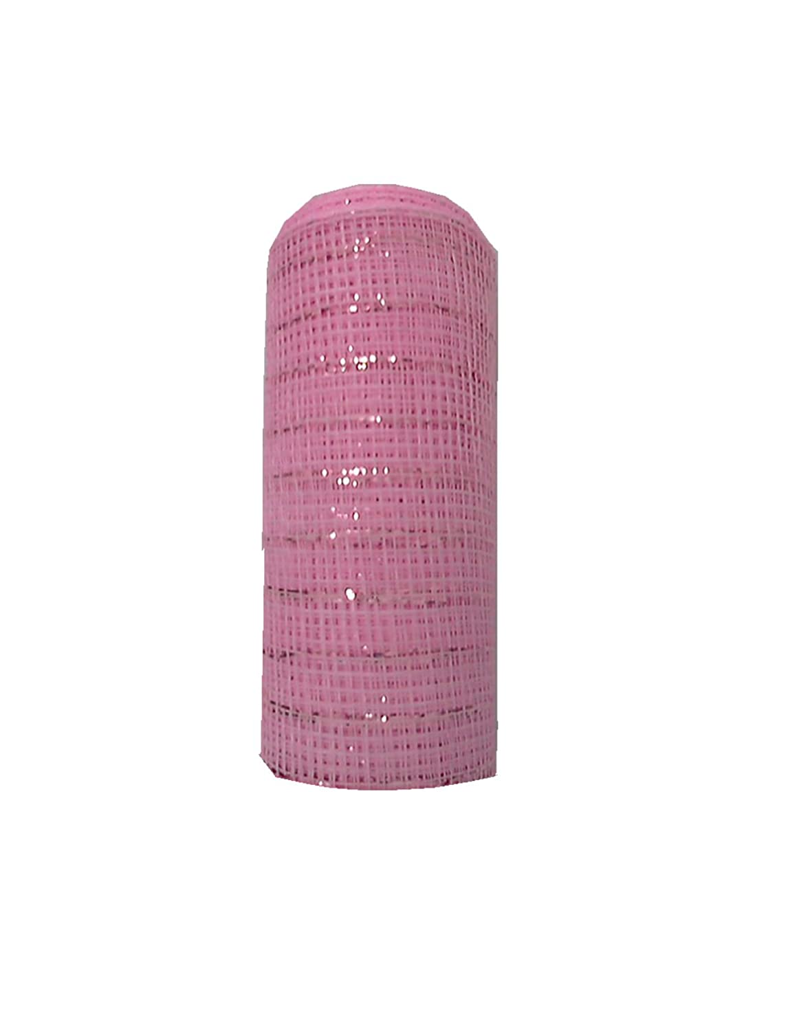 TMI Gifts Designer Netting , 25cm by 10-Yard, Baby Pink with Pink Foil   B00I3QMHN6