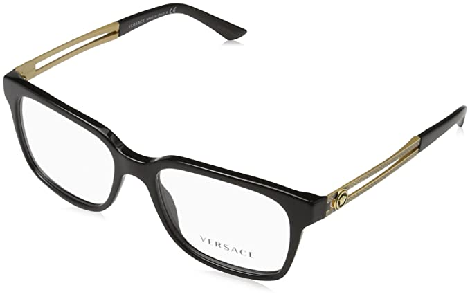 0520cd46b97 Versace VE 3218 Eyeglasses GB1 Black  Amazon.ca  Jewelry