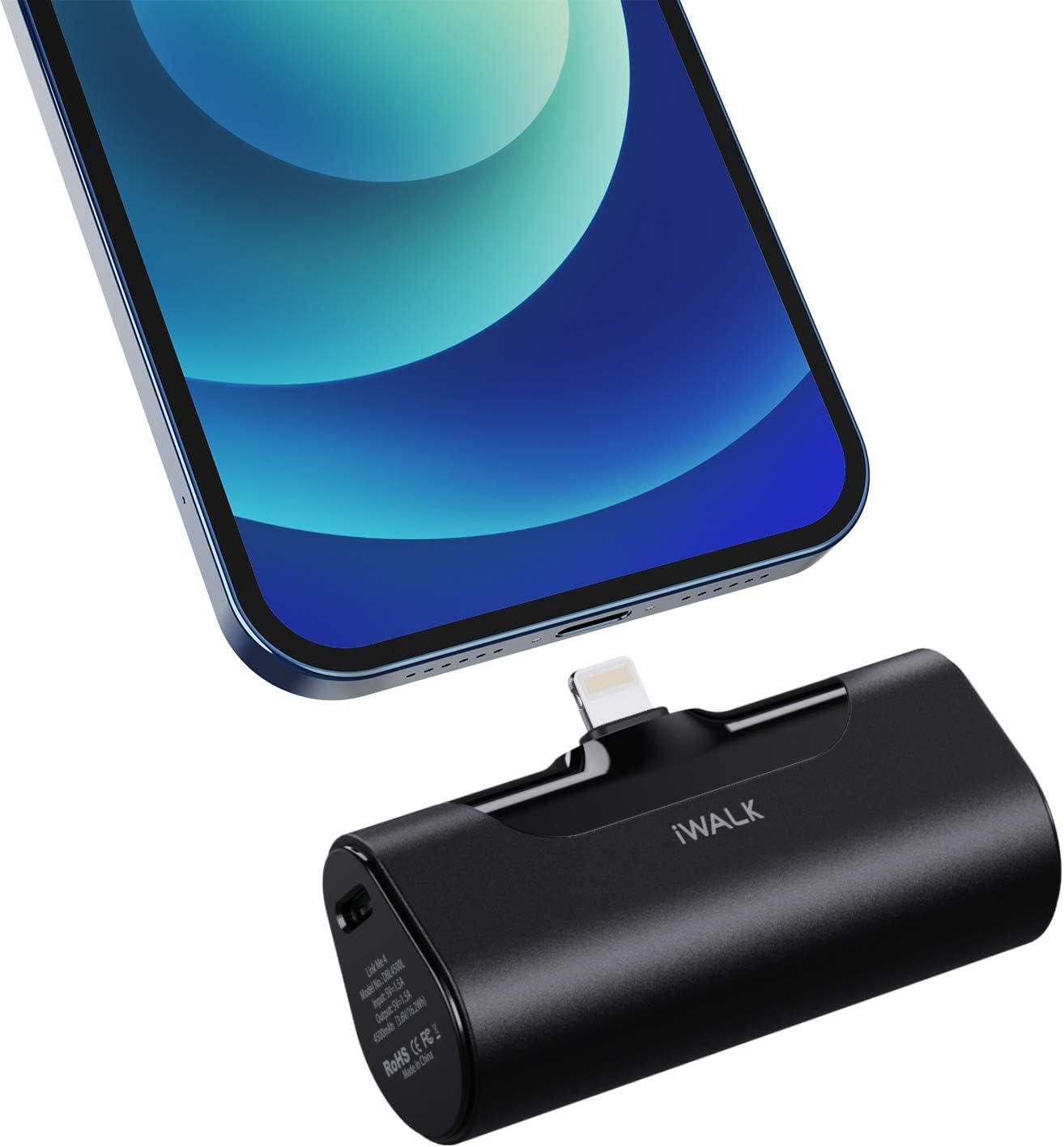 iWALK Small Power Bank 4500mAh Ultra-Compact Portable Charger Battery Black