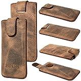 Burkley Luxury Handmade 100% Genuine Leather Apple iPhone 5 / 5S Wetcase Case Slipcase Slip Sleeve Pouch in Antique Coffee Brown