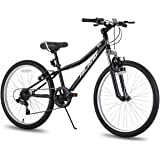Hiland 24 Inch Mountain Bike for Children with 6-Speed Suspension Fork V Brake Bicycle