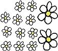 AutoStyle 1/03009 Sticker pour voiture motif fleurs Blanc/Jaune 13,5 x 15,5 cm