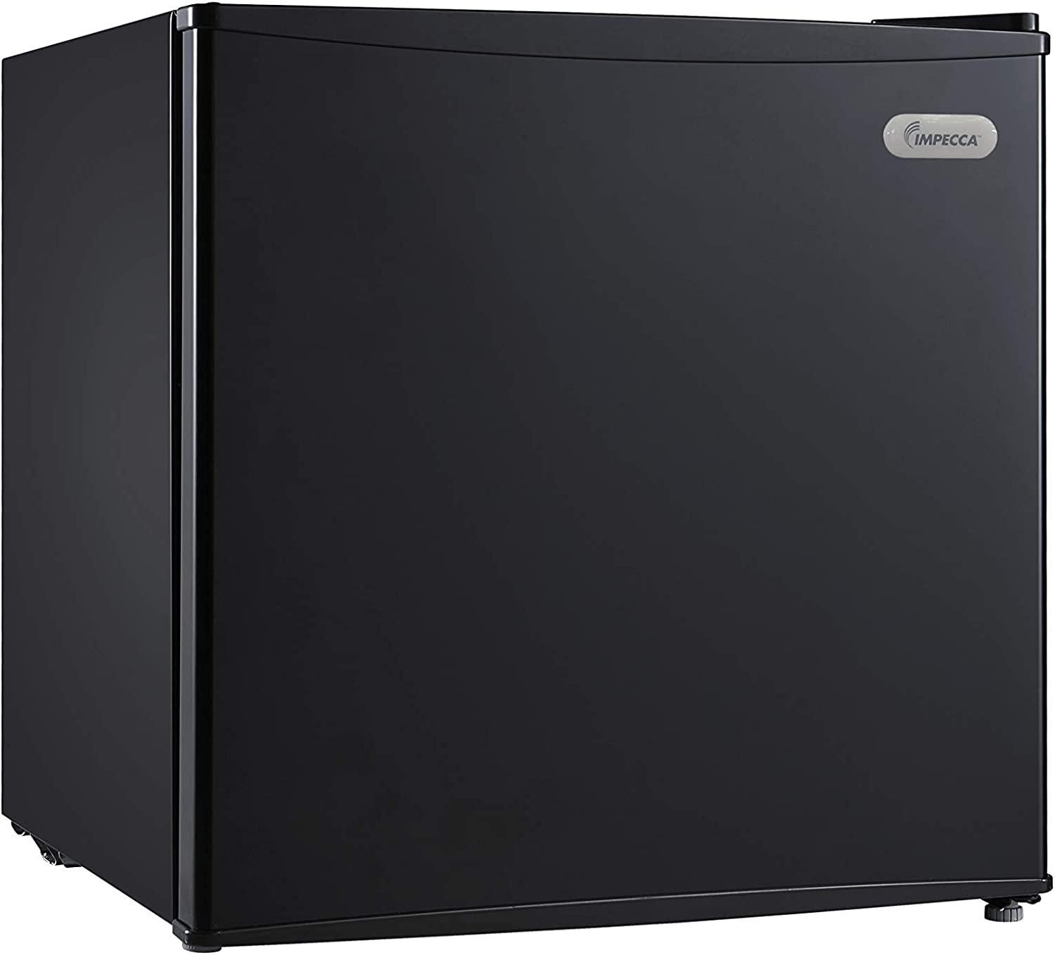 IMPECCA Upright Freezer 1.1 Cubic Feet Energy Star with Reversible Door, Removable Shelves and Adjustable Thermostat - Black