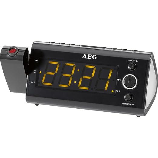 AEG Radio Despertador Proyector MRC4121P - Vendedores Amazon ...