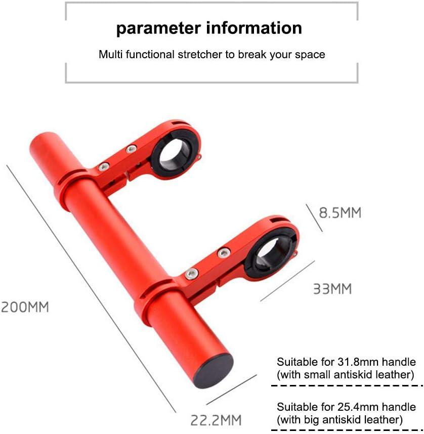 extension de guidon de v/élo Tininna Support de guidon de v/élo alliage daluminium multifonction double support de guidon