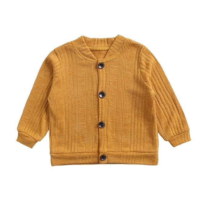 Abrigos Bebé, Dragon868 Suave Color sólido cálido Abrigos suéter de Punto Cardigan niños niñas: Amazon.es: Ropa y accesorios