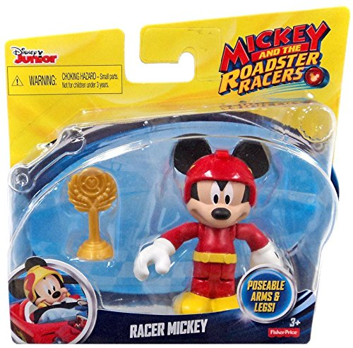 Fisher-Price Wacky Workers Mickey Racer Toy Figures (Figures Trophy Plastic)