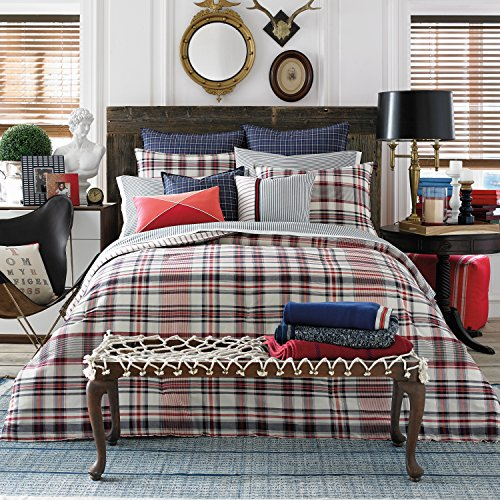 (Tommy Hilfiger Vintage Plaid Comforter, Twin)