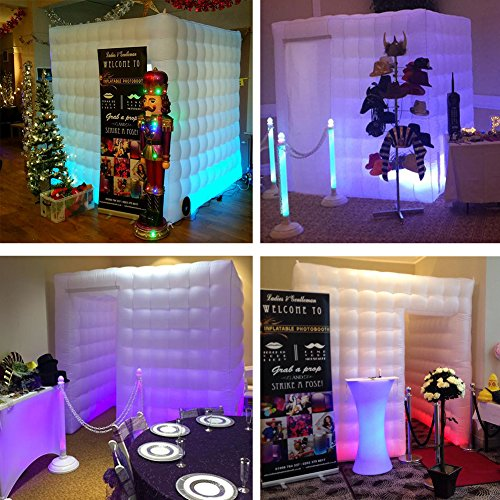 Inflatable Portable Photo Booth Backdrop - Inflatable Photobooth with Led Light Strip and Inner Air Blower Photo Booth Stand for Party, Wedding, Birthday, Halloween Decoration by AIRMAT FACTORY (Image #7)