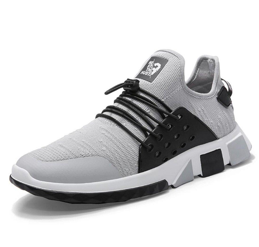 DANDANJIE Zapatos para Hombres Zapatos para Correr Zapatos Ocasionales Respirables Voladores Zapatos de Malla Zapatillas de Deporte (Color : Gris, Tamaño : 39 EU) 39 EU Gris