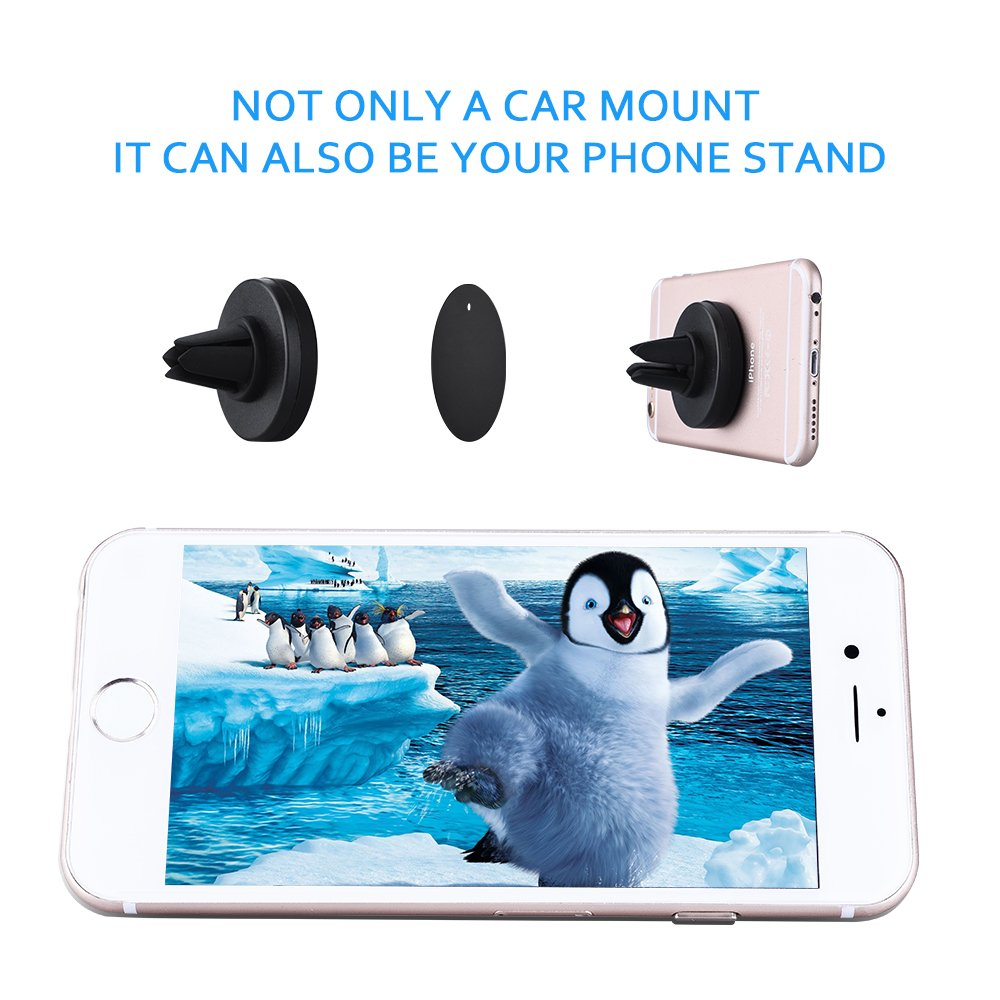 Air vent phone mount mpow grip magnetic phone holder for car air vent car mount universal car holder cradle for iphone 7 6 6 plus 5 huawei p9 lg sony